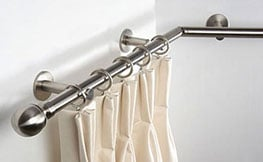 Bay Window Curtain Poles