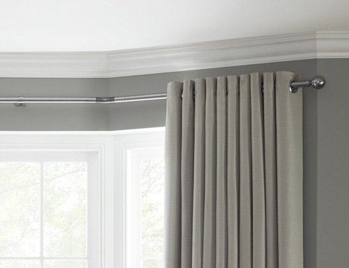 Rolls Neo Eyelet Bay Window Curtain Pole