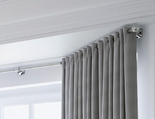 Speedy Eyelet Curtain Pole for Bay Windows