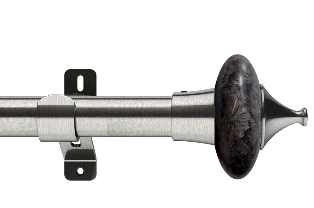 Swish 28mm Design Studio Cupola Satin Steel Eyelet Pole