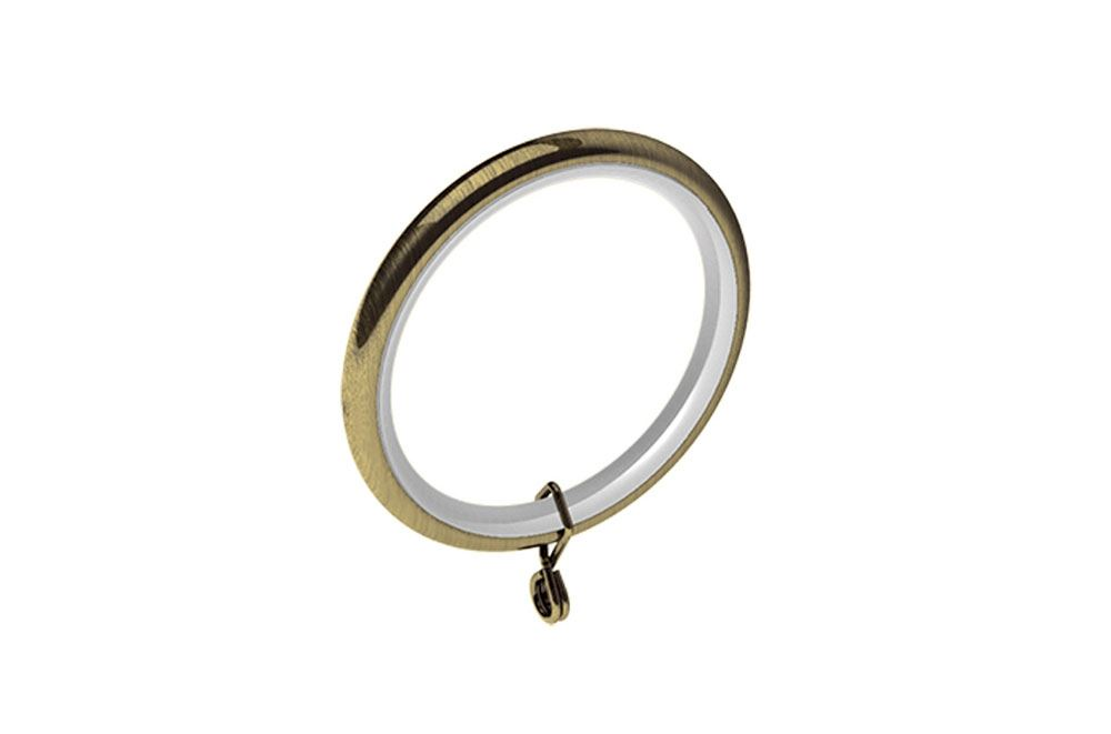 Swish 28mm Design Studio Curtain Pole Rings Antique Brass In Pack Of 4 Or 12
