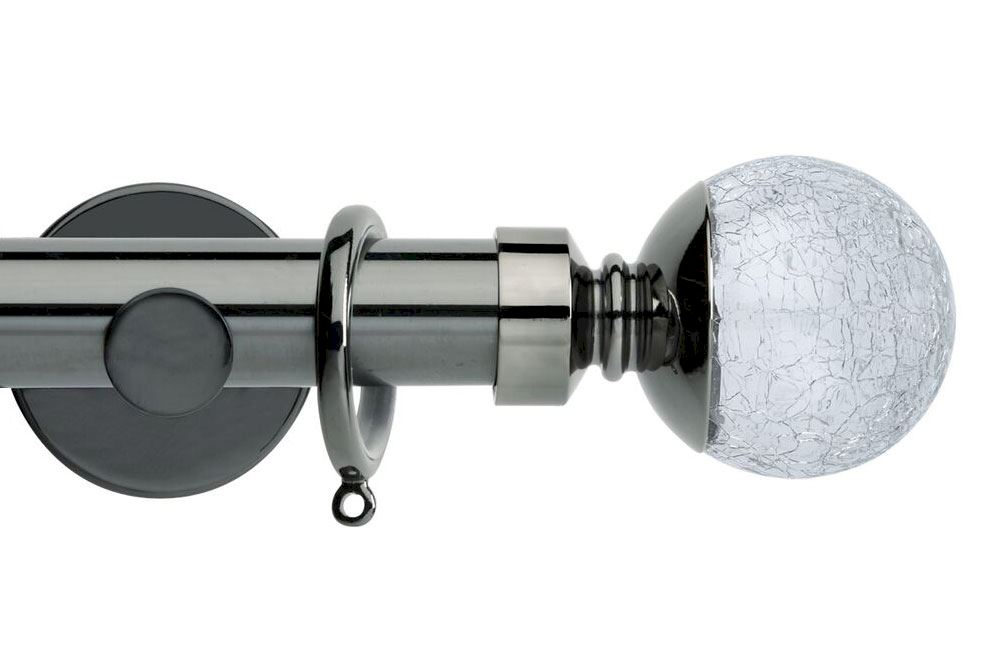 Curtain Poles Crackled Glass