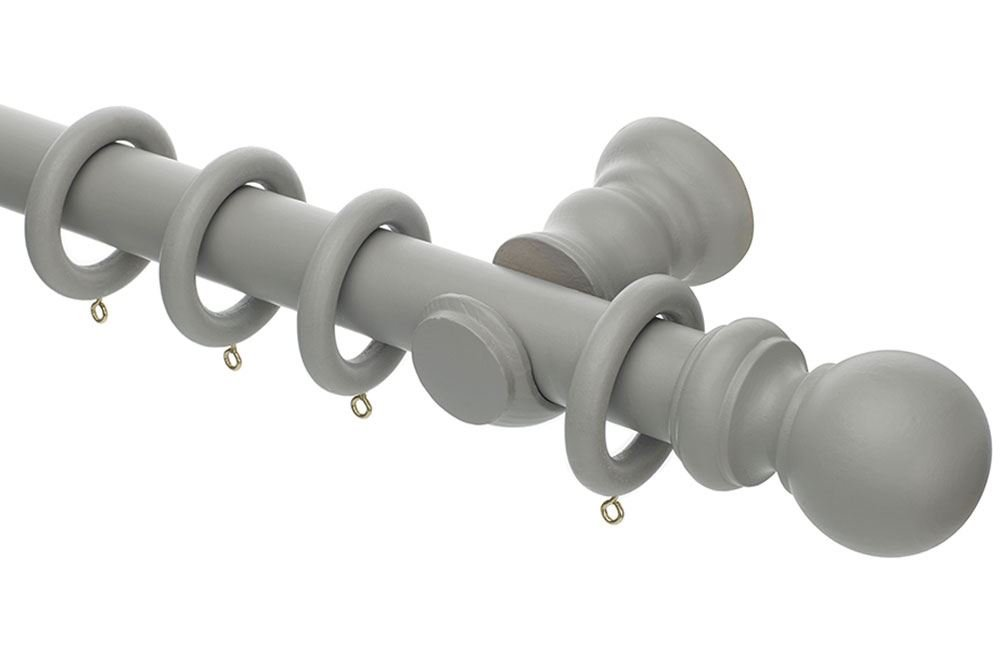 White Wooden Curtain Rings 55mm