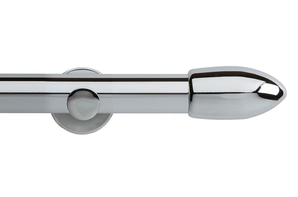 Rolls 35mm Neo Bullet Metal Eyelet Pole Chrome