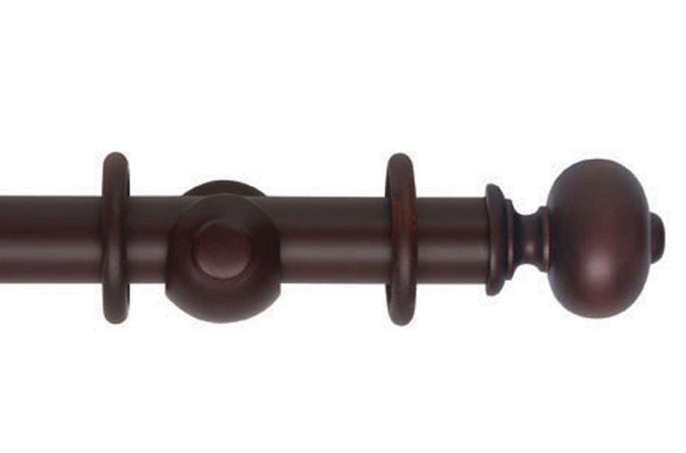 Hallis 45mm Museum Parham Wooden Curtain Pole Mahogany