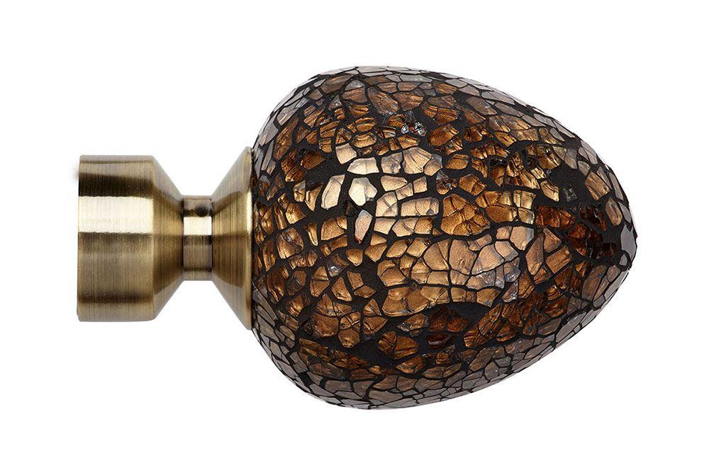Speedy 28mm Alexia Bronze Mirror Finial Antique Brass