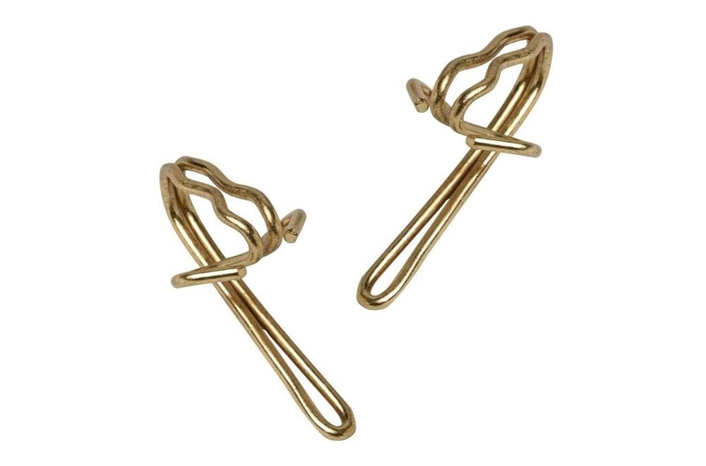 Curtain Hooks Brass