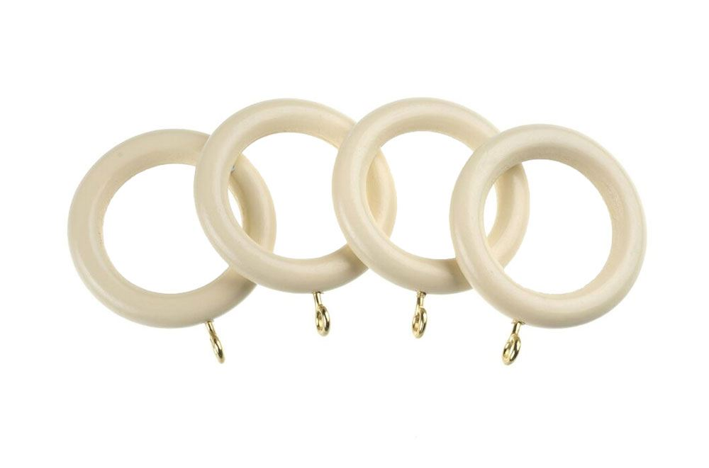 Universal 35mm Cream Wooden Rings
