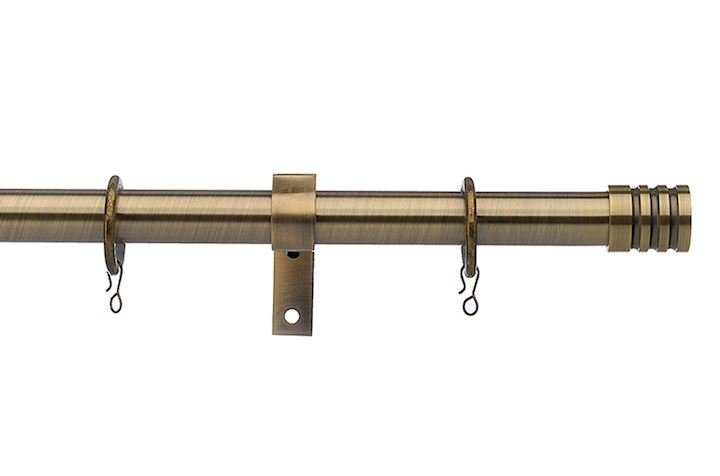 Universal 19mm Barrel Antique Brass Metal Curtain Pole
