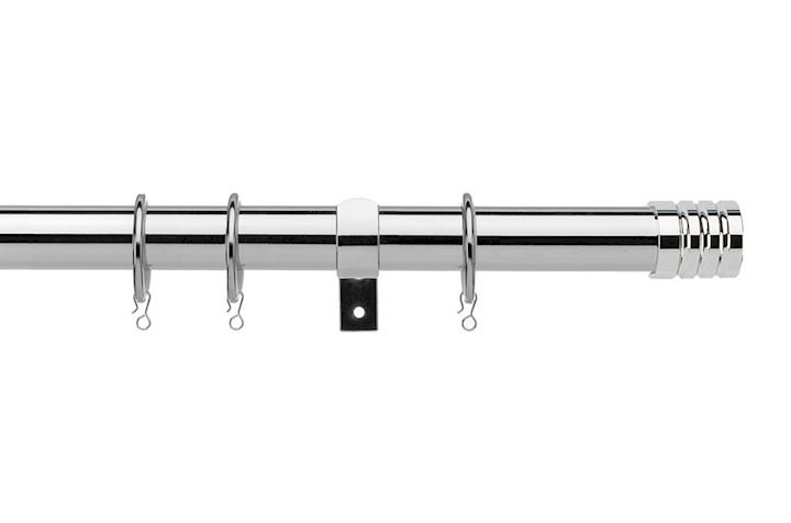 Universal 16-19mm Barrel Chrome Extendable Curtain Pole