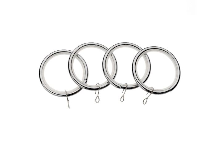 Universal 19mm Chrome Curtain Pole Rings