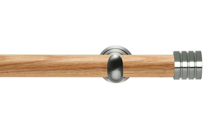 Rolls 28mm Neo Oak Stud Stainless Steel Wooden Eyelet Pole