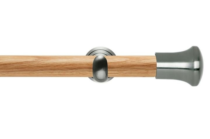 Rolls 28mm Neo Oak Trumpet Stainless Steel Wooden Eyelet Pole