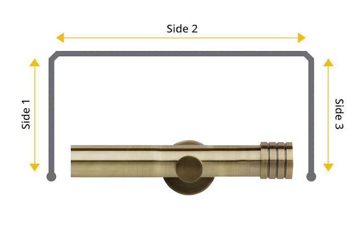 Rolls Neo 28mm Bay Window Eyelet Pole Stud Spun Brass