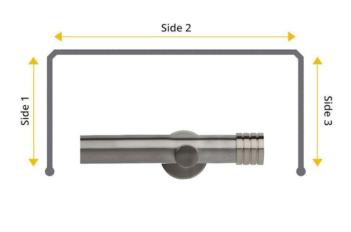 Rolls Neo 28mm Bay Window Eyelet Pole Stud Stainless Steel