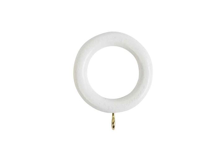 Rolls 28mm Woodline Wooden Rings White