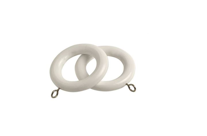 Speedy 28mm County White Wooden Rings