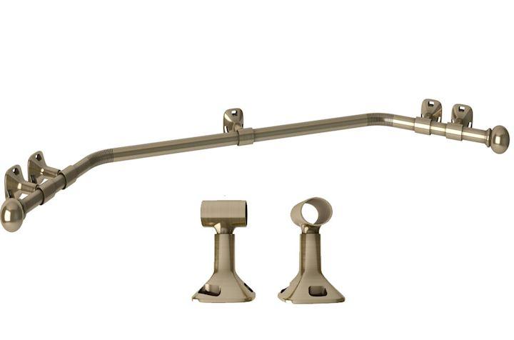 Speedy 28mm Eyelet Bay Window Pole Antique Brass