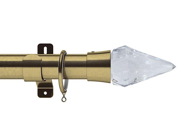 Swish 28mm Design Studio Kwartz Antique Brass Metal Curtain Pole