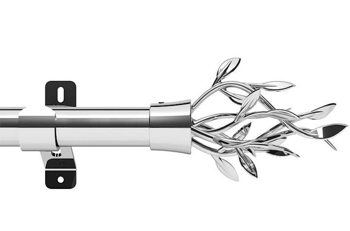 Swish 28mm Design Studio Entwine Chrome Eyelet Pole