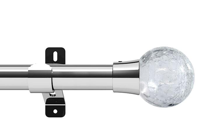 Swish 28mm Design Studio Gossamer Chrome Eyelet Pole