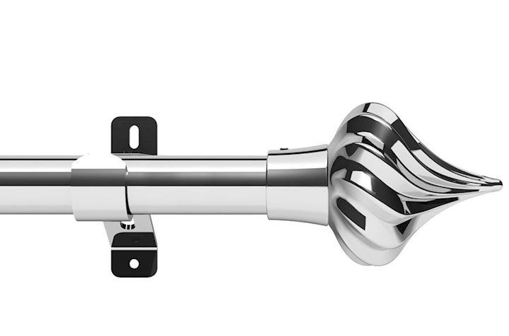 Swish 28mm Design Studio Kremlin Chrome Eyelet Pole