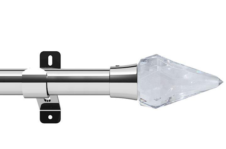 Swish 28mm Design Studio Kwartz Chrome Eyelet Pole