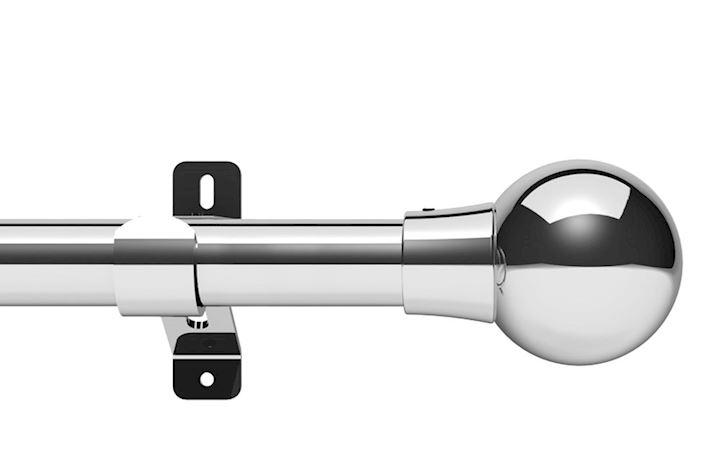 Swish 28mm Design Studio Mondiale Chrome Eyelet Pole