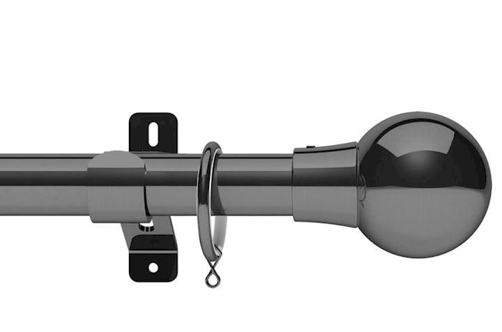 Swish 28mm Design Studio Mondiale Graphite Metal Curtain Pole
