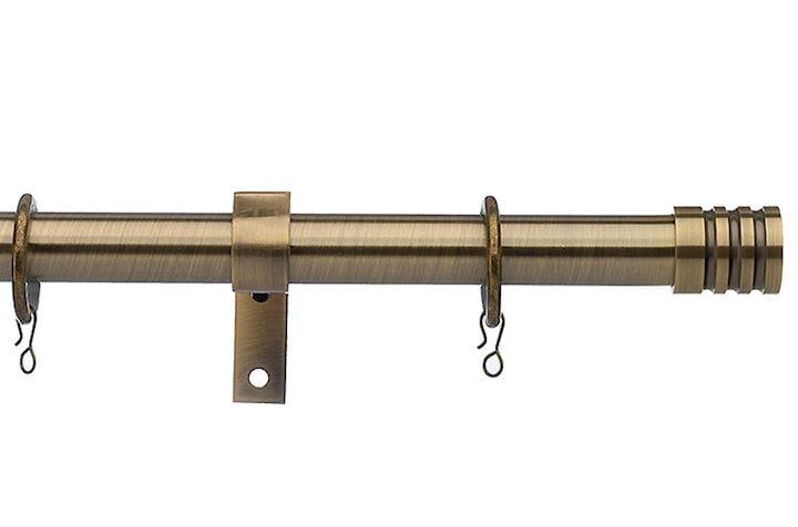 Universal 25-28mm Barrel Antique Brass Extendable Curtain Pole