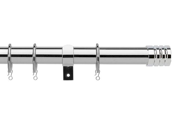Universal 28mm Barrel Chrome Metal Curtain Pole