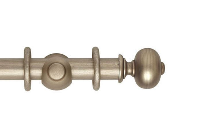 Hallis 35mm Museum Parham Wooden Curtain Pole Satin Oyster