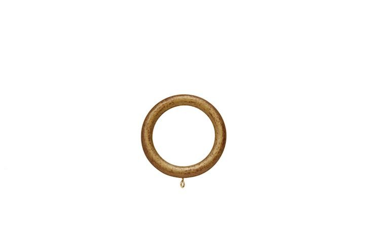 Hallis 35mm Museum Wooden Rings Red Gold