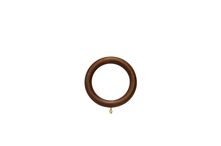 Rolls 35mm Museum Wooden Rings Satin Chestnut