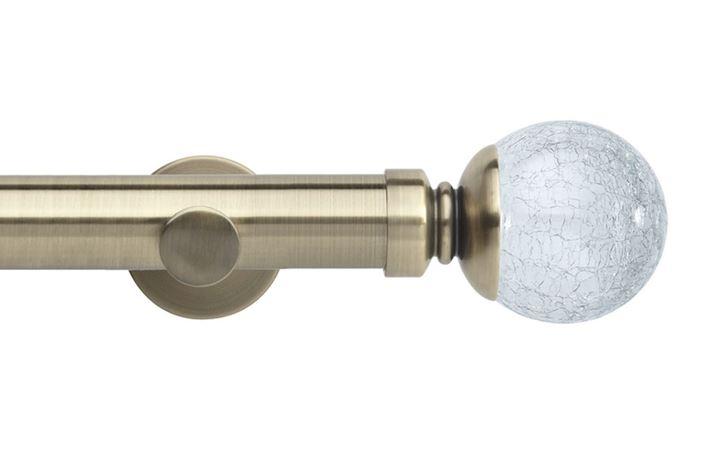 Rolls 35mm Neo Crackled Glass Metal Eyelet Pole Spun Brass