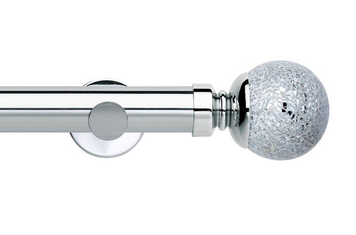Rolls 35mm Neo Mosaic Ball Metal Eyelet Pole Chrome