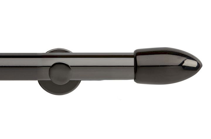 Rolls 35mm Neo Bullet Metal Eyelet Pole Black Nickel