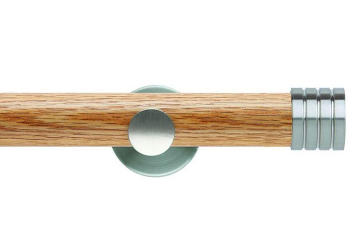 Rolls 35mm Neo Oak Stud Stainless Steel Wooden Eyelet Pole