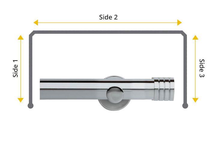Rolls Neo 35mm Bay Window Eyelet Pole Stud Chrome