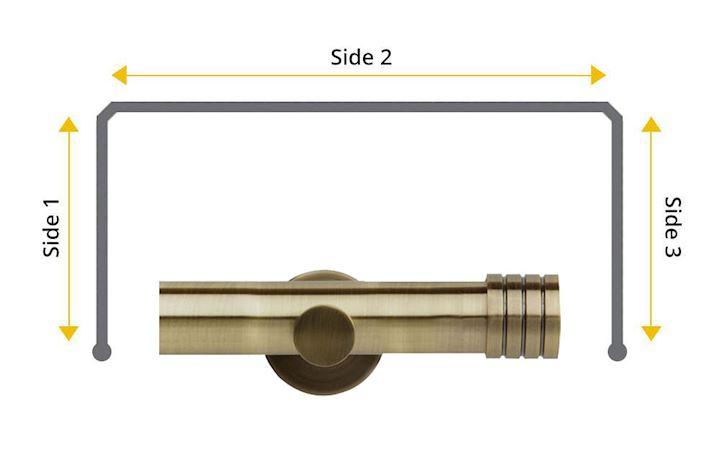 Rolls Neo 35mm Bay Window Eyelet Pole Stud Antique Brass