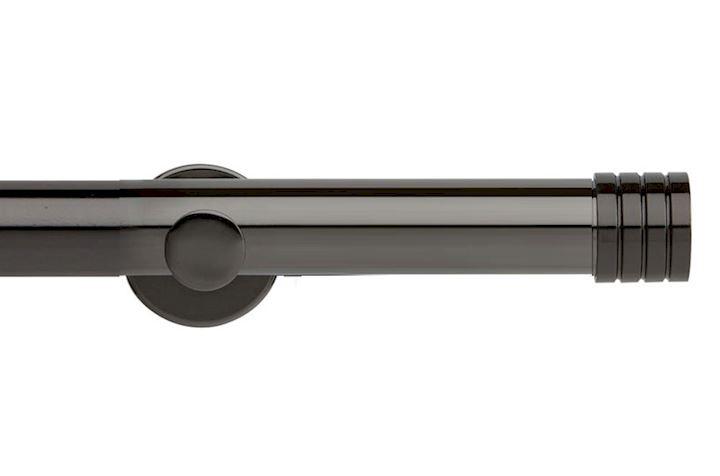 Rolls 35mm Neo Stud Metal Eyelet Pole Black Nickel