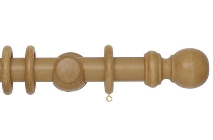 Rolls 35mm Woodline Wooden Curtain Pole Light Oak