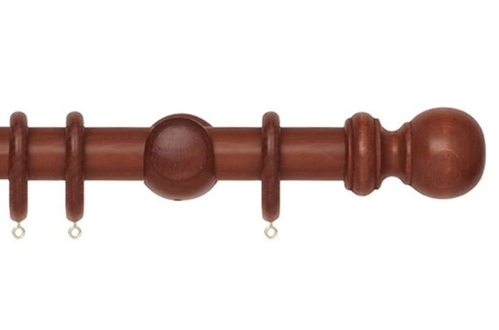 Rolls 35mm Woodline Wooden Curtain Pole Rosewood