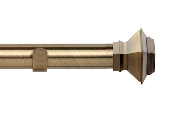 Speedy 35mm Aztec Eyelet Pole Antique Brass