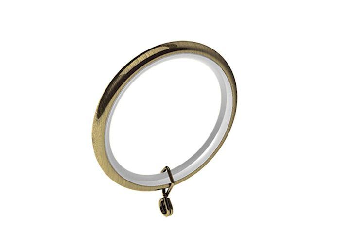 Swish 35mm Design Studio Curtain Pole Rings Antique Brass