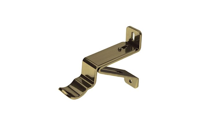 Swish 35mm Wall Fixed Passing Bracket Antique Brass