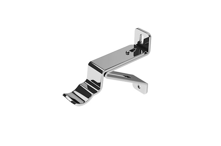 Swish 35mm Wall Fixed Passing Bracket Chrome