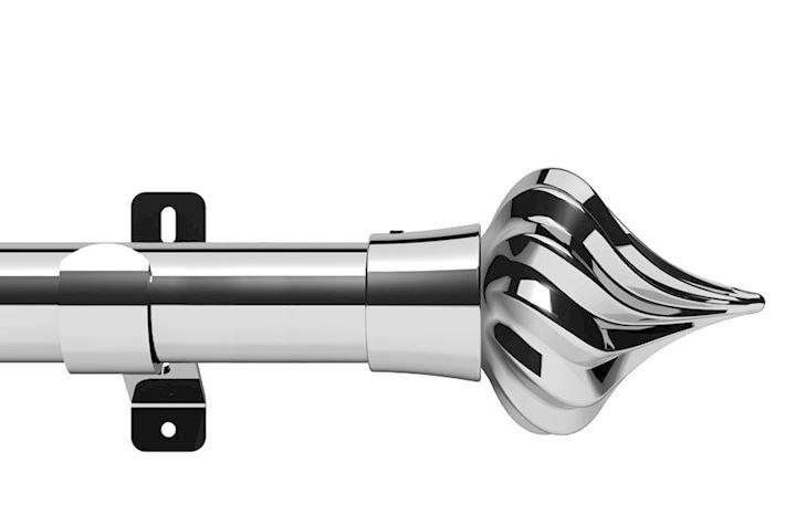 Swish 35mm Design Studio Kremlin Chrome Eyelet Pole