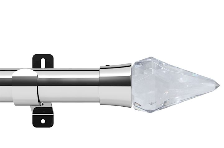 Swish 35mm Design Studio Kwartz Chrome Eyelet Pole