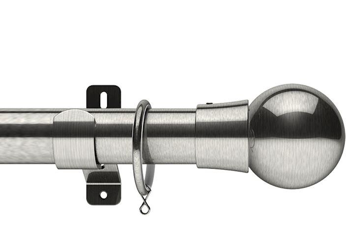 Swish 35mm Design Studio Mondiale Satin Steel Metal Curtain Pole